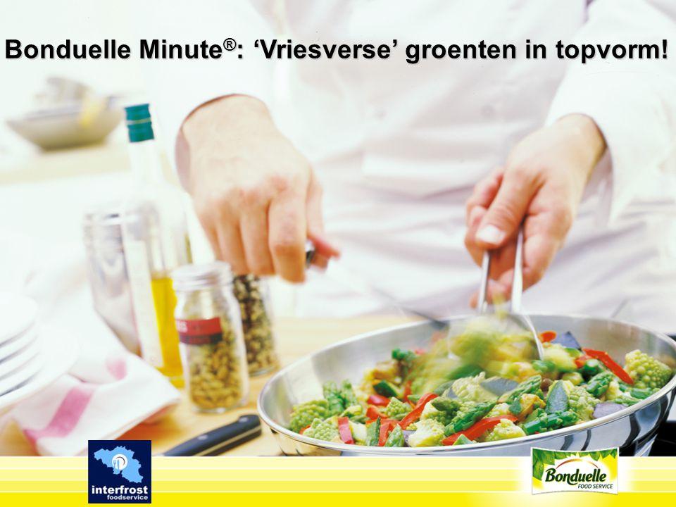 Bonduelle Minute ® : 'Vriesverse' groenten in topvorm!