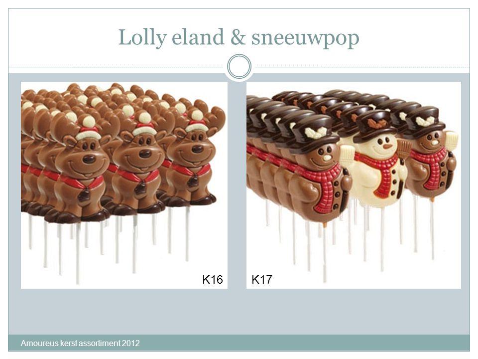 Lolly eland & sneeuwpop Amoureus kerst assortiment 2012 K16K17