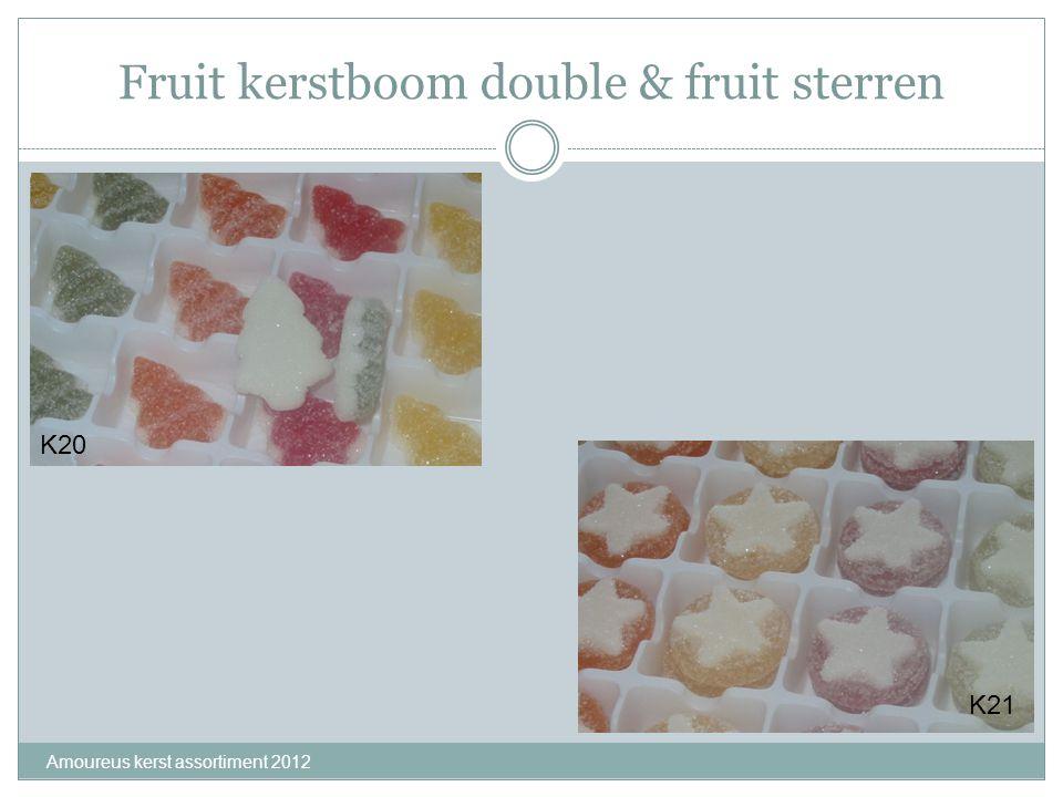Fruit kerstboom double & fruit sterren Amoureus kerst assortiment 2012 K20 K21