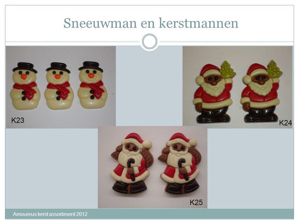Sneeuwman en kerstmannen Amoureus kerst assortiment 2012 K23 K24 K25