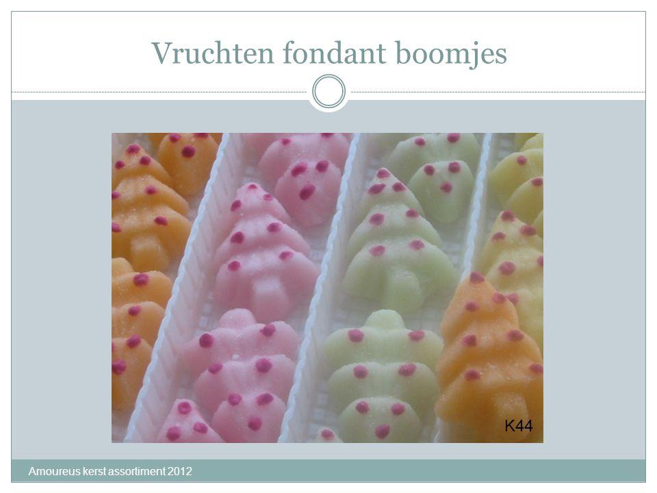 Vruchten fondant boomjes Amoureus kerst assortiment 2012 K44