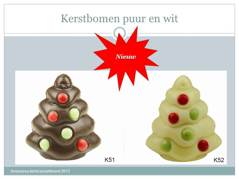 Kerstbomen puur en wit Amoureus kerst assortiment 2012 K51 K52 Nieuw