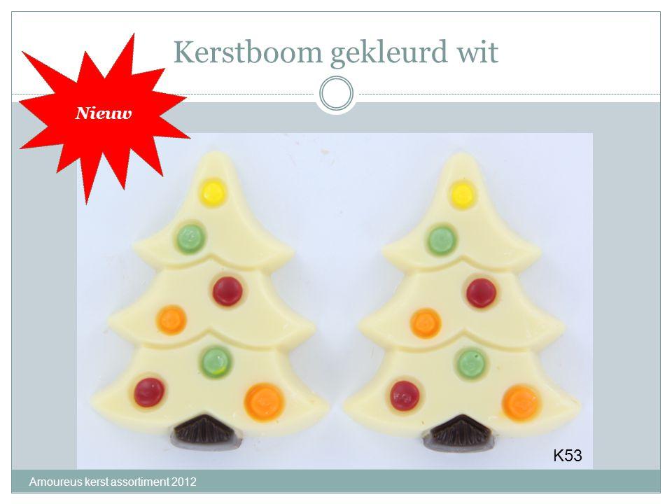 Kerstboom gekleurd wit Amoureus kerst assortiment 2012 K53 Nieuw