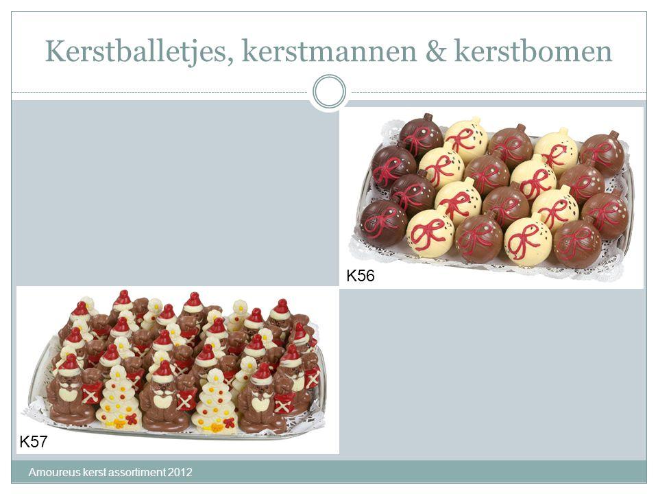 Kerstballetjes, kerstmannen & kerstbomen Amoureus kerst assortiment 2012 K57 K56