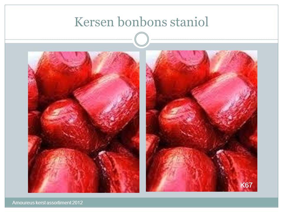 Kersen bonbons staniol Amoureus kerst assortiment 2012 K67