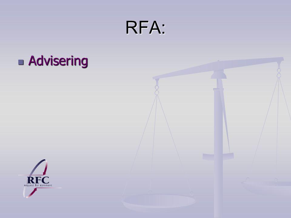 RFA: Advisering Advisering