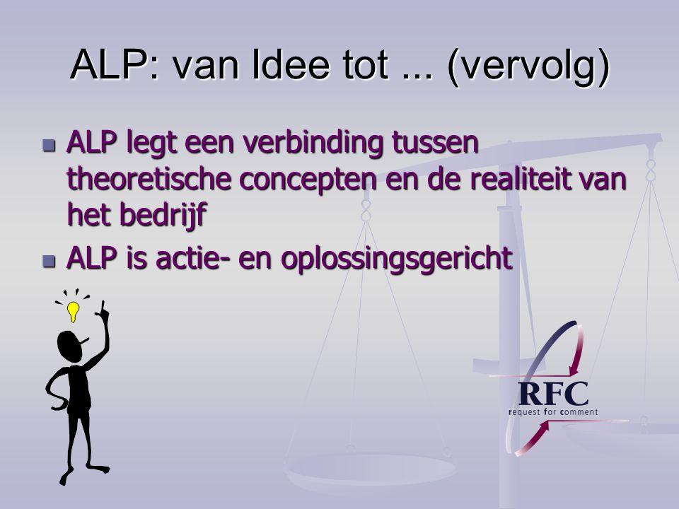 ALP: van Idee tot...