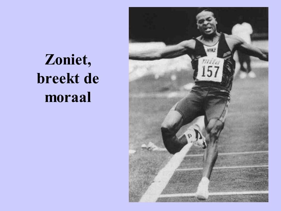 Zoniet, breekt de moraal