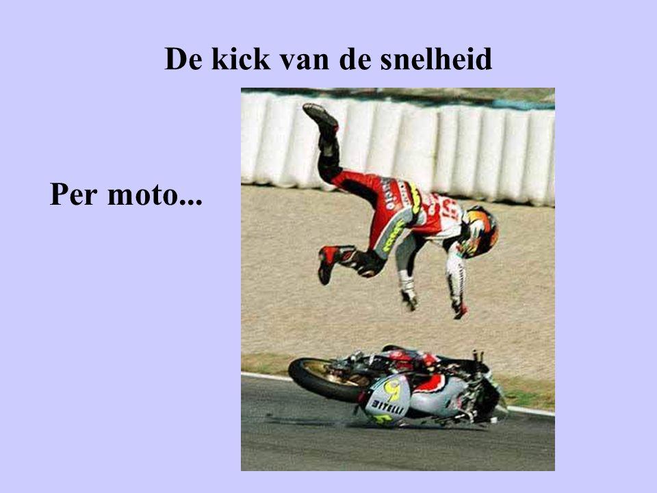 De kick van de snelheid Per moto...