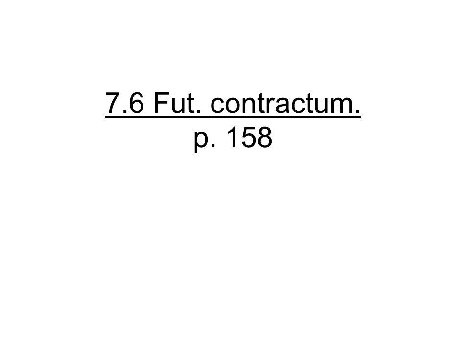 7.6 Fut. contractum. p. 158