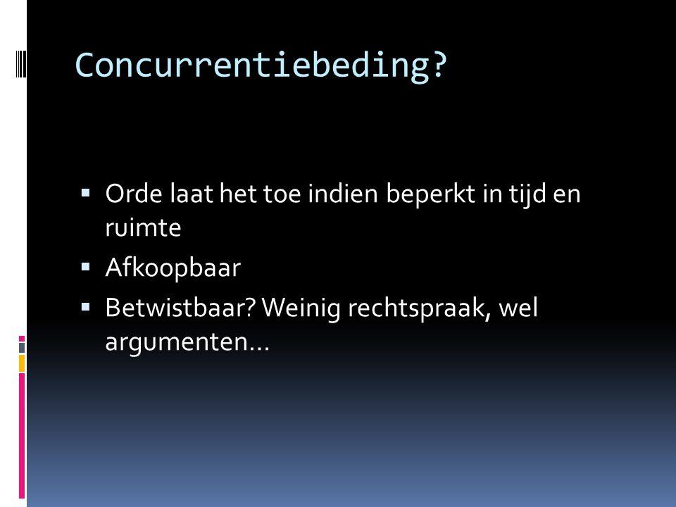 Concurrentiebeding.