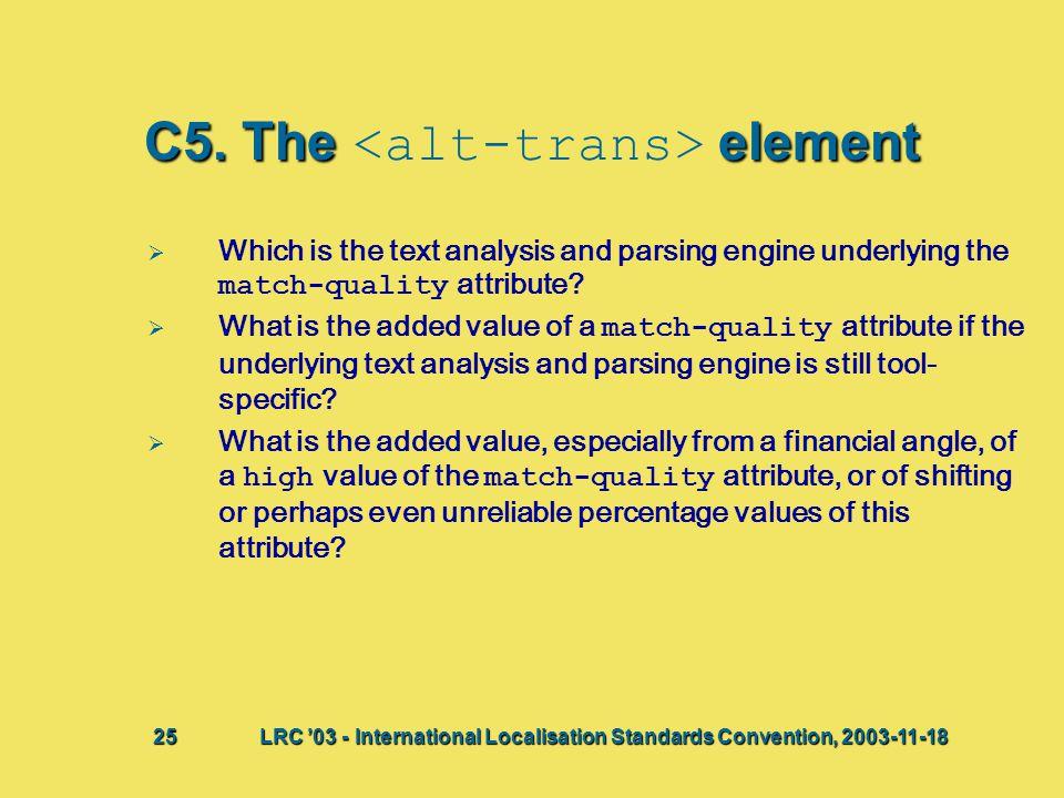 C5. Theelement C5.