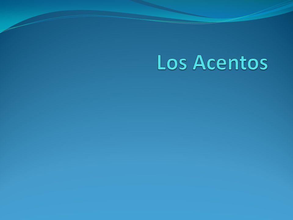 Regels: Accent heeft voorrang Woorden die eindigen op een klinker (a,e,o,u) en woorden die eindigen op n / s:.