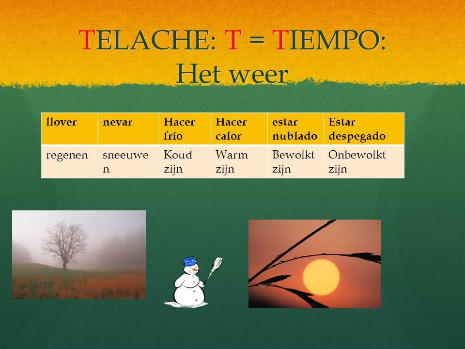 Wanneer kan je deze tijd gebruiken Ezelsbruggetje: Ezelsbruggetje: El Imperfecto con TELACHE