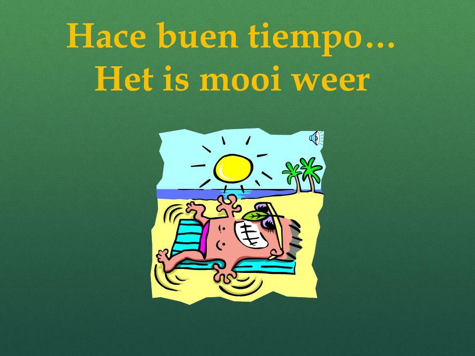 ¿ Qué tiempo hace? Wat voor weer is het? Schrijf de woorden over en zet de Nederlandse vertaling erachter La primavera = ………… El invierno = …….. El ot