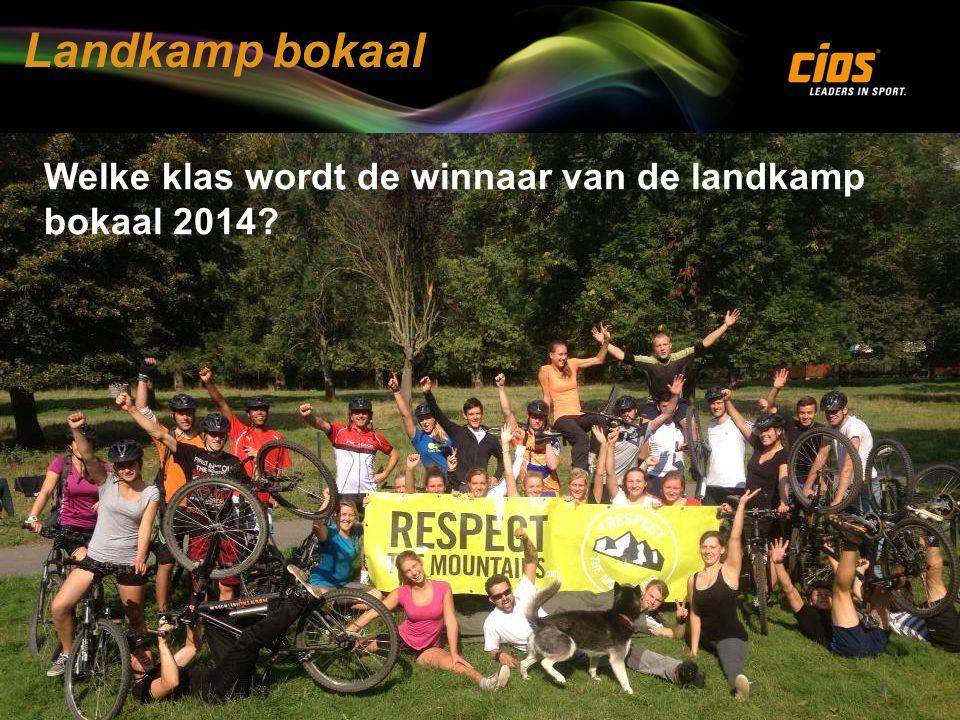 Landkamp bokaal Welke klas wordt de winnaar van de landkamp bokaal 2014?