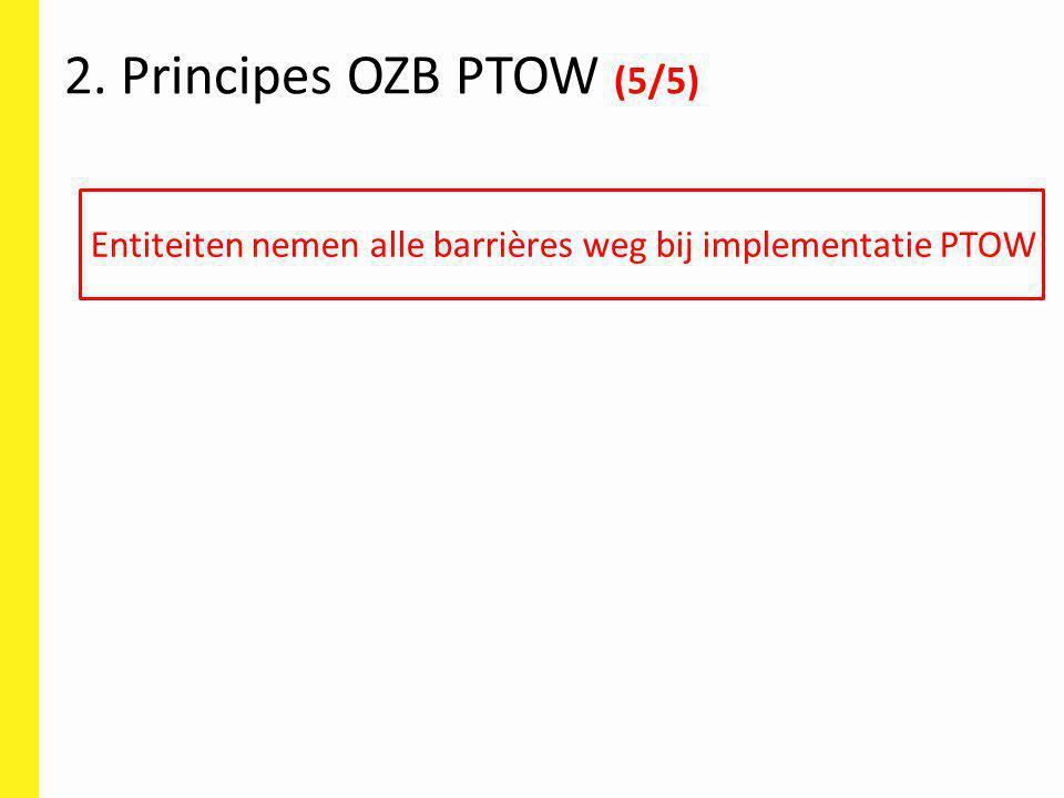 Entiteiten nemen alle barrières weg bij implementatie PTOW 2. Principes OZB PTOW (5/5)