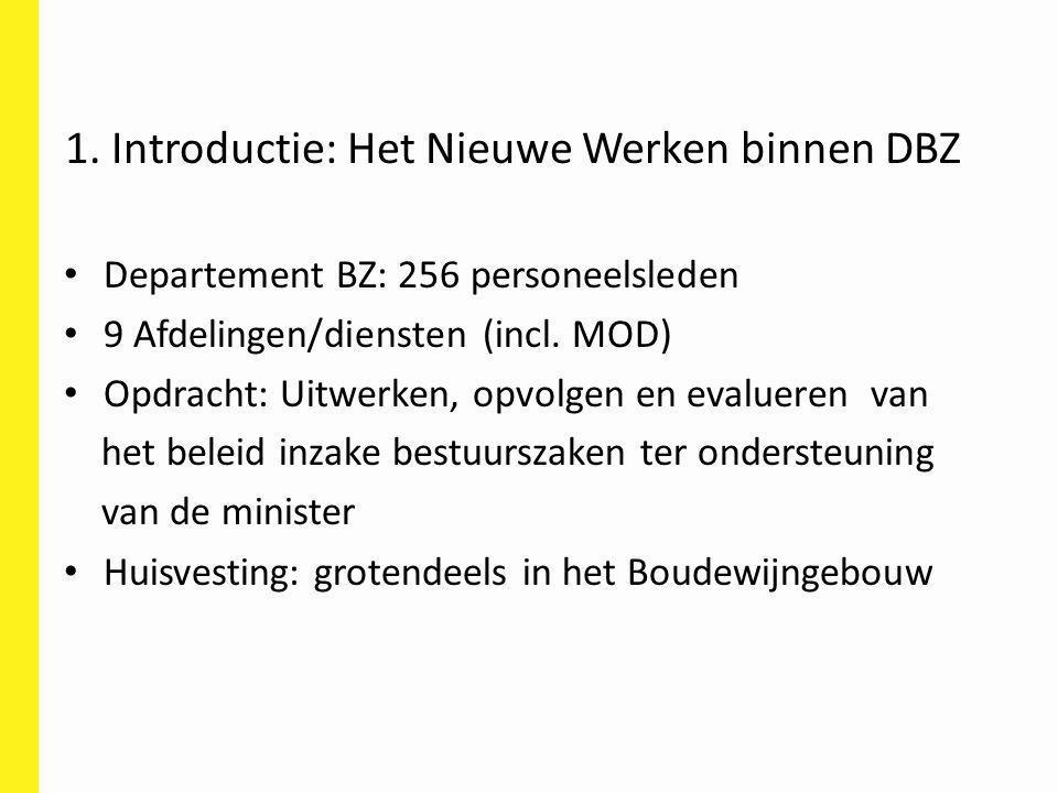 Departement BZ: 256 personeelsleden 9 Afdelingen/diensten (incl. MOD) Opdracht: Uitwerken, opvolgen en evalueren van het beleid inzake bestuurszaken t