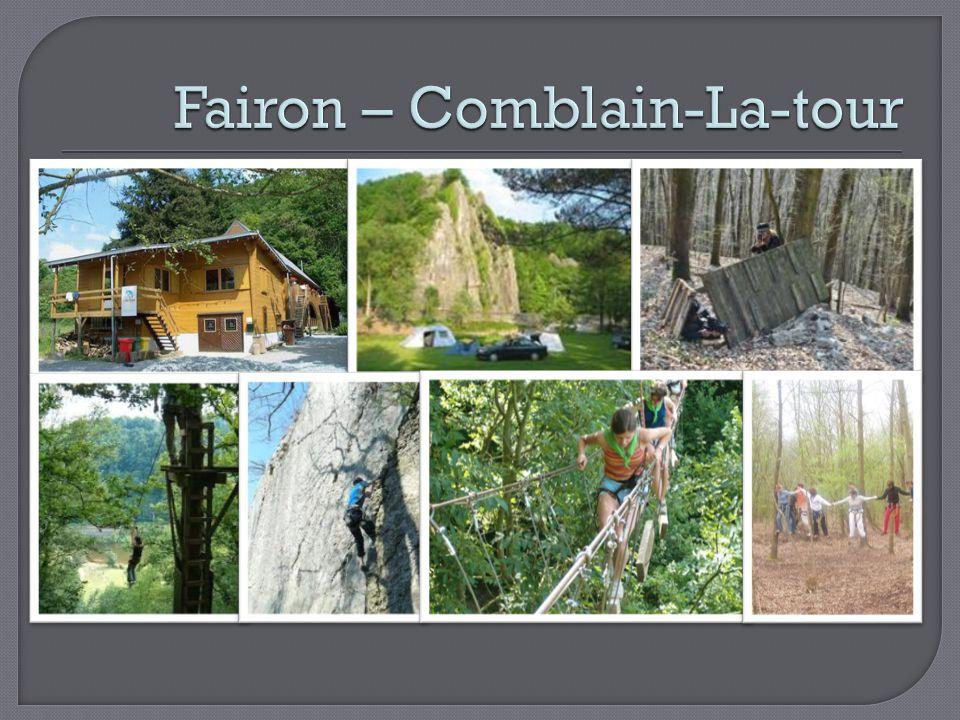  Chalet in het dorpje Fairon  All-in formule Ontbijt Middagmaal of lunchpakket 4-uurtje Avondmaal  Slaapkamers met stapelbedden voor telkens 12 personen