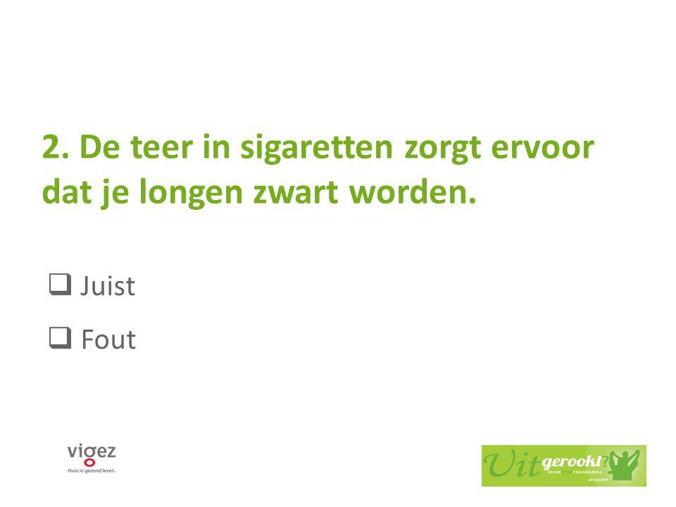 De teer in sigaretten zorgt ervoor dat je longen zwart worden.