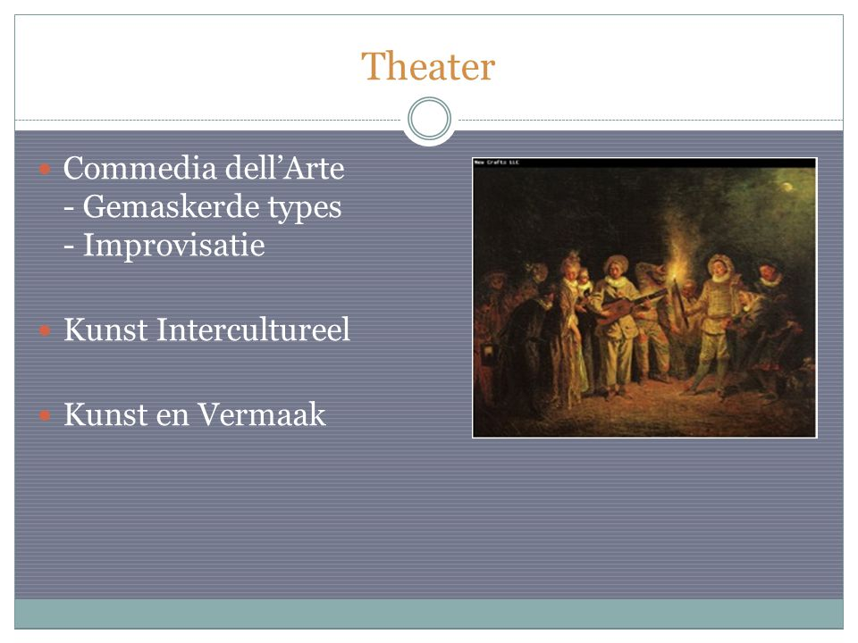 Theater Commedia dell'Arte - Gemaskerde types - Improvisatie Kunst Intercultureel Kunst en Vermaak