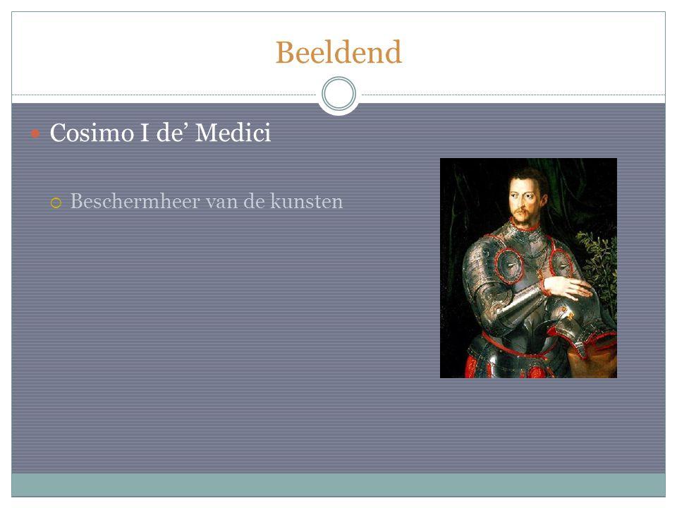 Beeldend Cosimo I de' Medici  Beschermheer van de kunsten