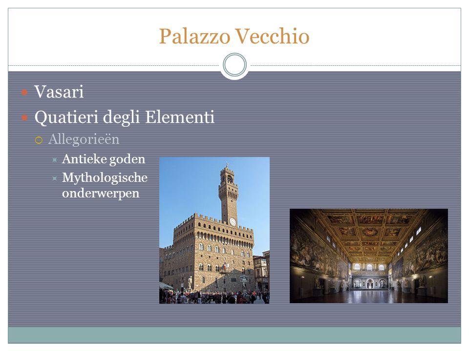 Palazzo Vecchio Vasari Quatieri degli Elementi  Allegorieën  Antieke goden  Mythologische onderwerpen