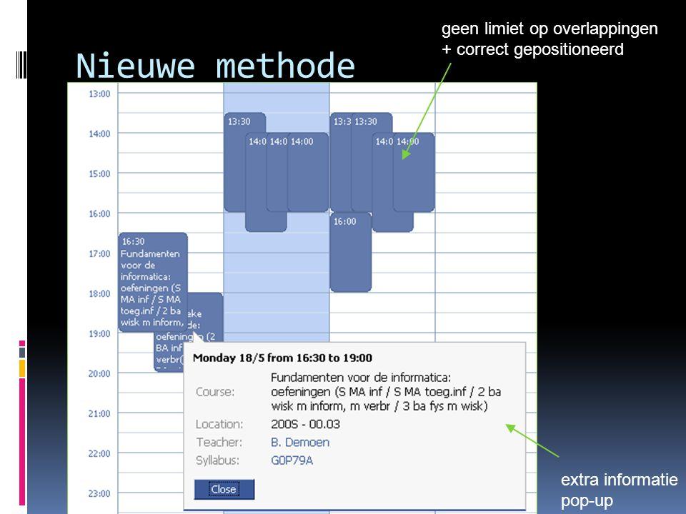 Nieuwe methode extra informatie pop-up geen limiet op overlappingen + correct gepositioneerd