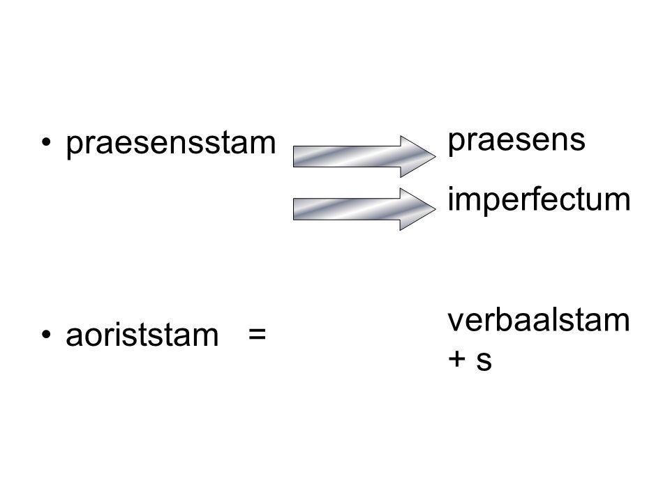 oefening 10.3 a (G. p. 11) Vertaal: imperfectum met OVT (ik riep) aorist met VTT (ik heb geroepen)