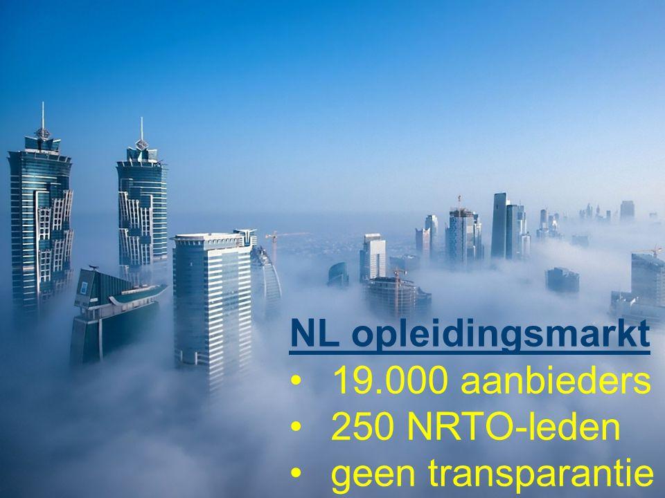 NL opleidingsmarkt 19.000 aanbieders 250 NRTO-leden geen transparantie