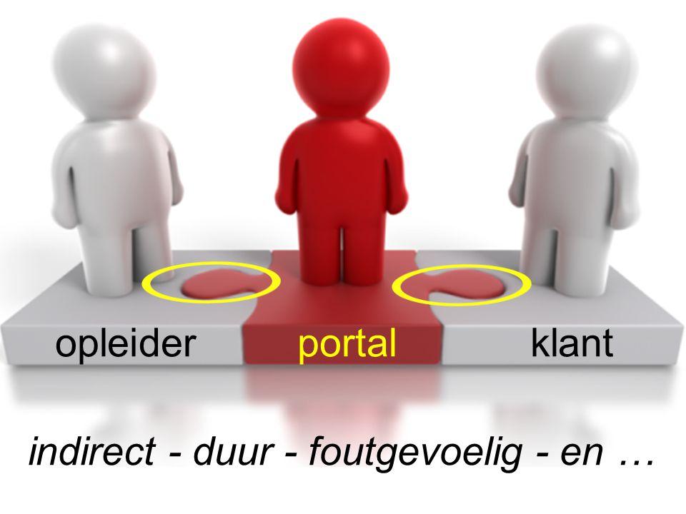 opleider portal klant indirect - duur - foutgevoelig - en …