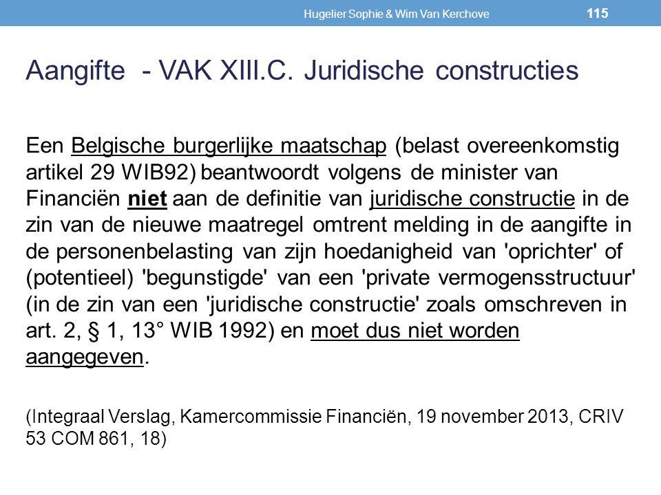 Een Belgische burgerlijke maatschap (belast overeenkomstig artikel 29 WIB92) beantwoordt volgens de minister van Financiën niet aan de definitie van j