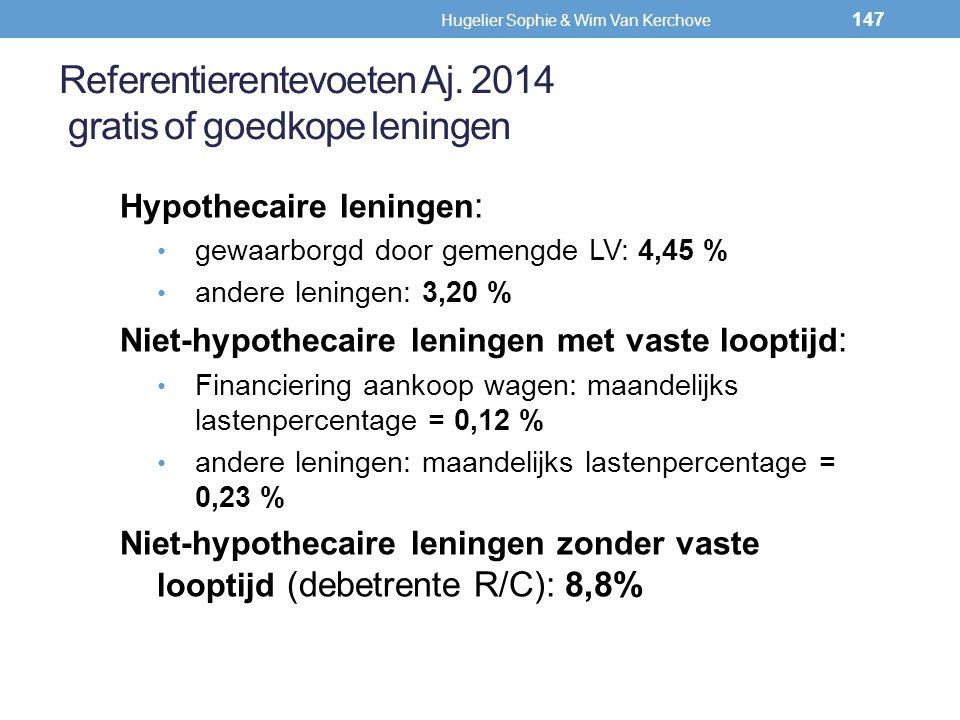Referentierentevoeten Aj. 2014 gratis of goedkope leningen Hypothecaire leningen : gewaarborgd door gemengde LV: 4,45 % andere leningen: 3,20 % Niet-h