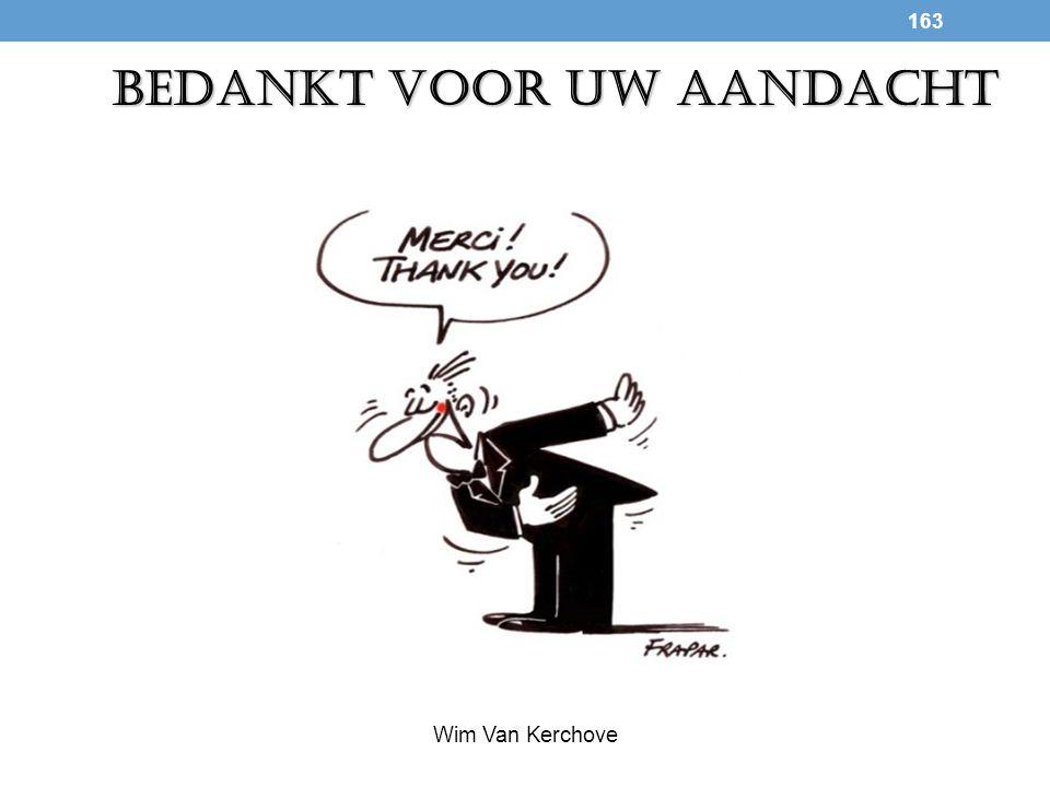 163 BEDANKT VOOR UW AANDACHT Wim Van Kerchove