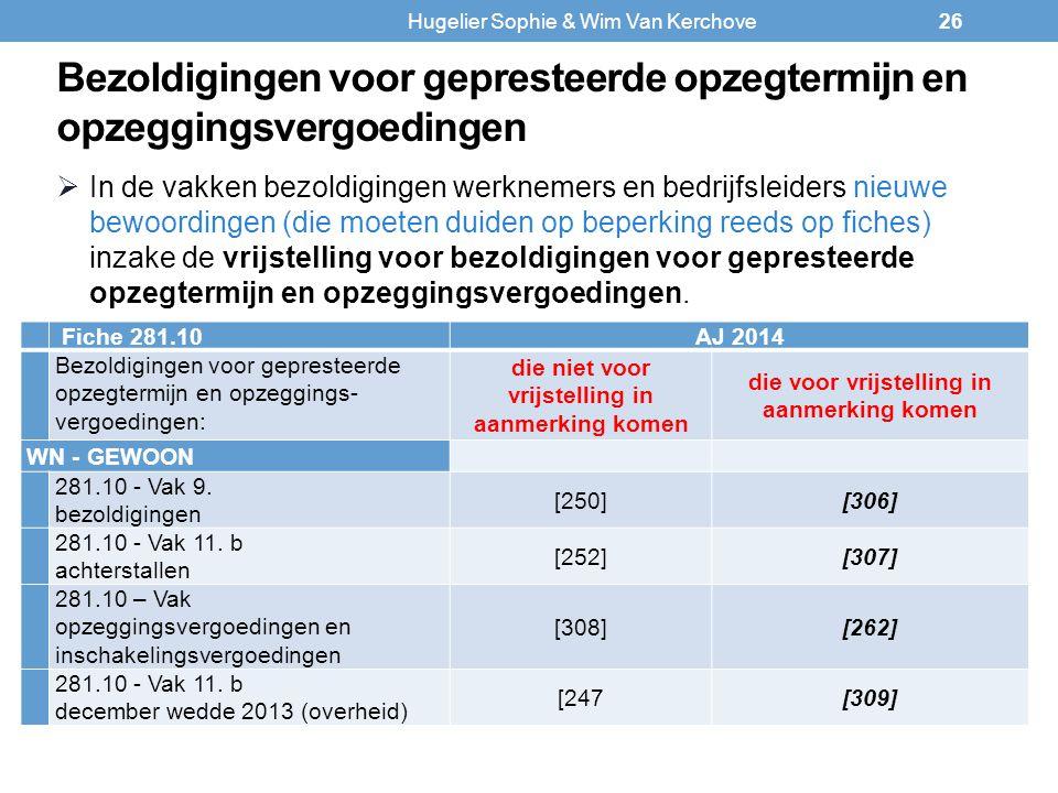 Bezoldigingen voor gepresteerde opzegtermijn en opzeggingsvergoedingen Fiche 281.10AJ 2014 Bezoldigingen voor gepresteerde opzegtermijn en opzeggings-
