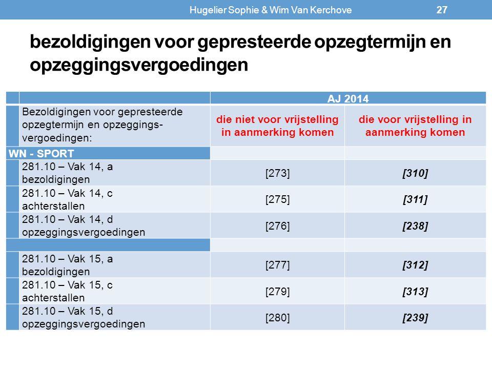 bezoldigingen voor gepresteerde opzegtermijn en opzeggingsvergoedingen AJ 2014 Bezoldigingen voor gepresteerde opzegtermijn en opzeggings- vergoedinge