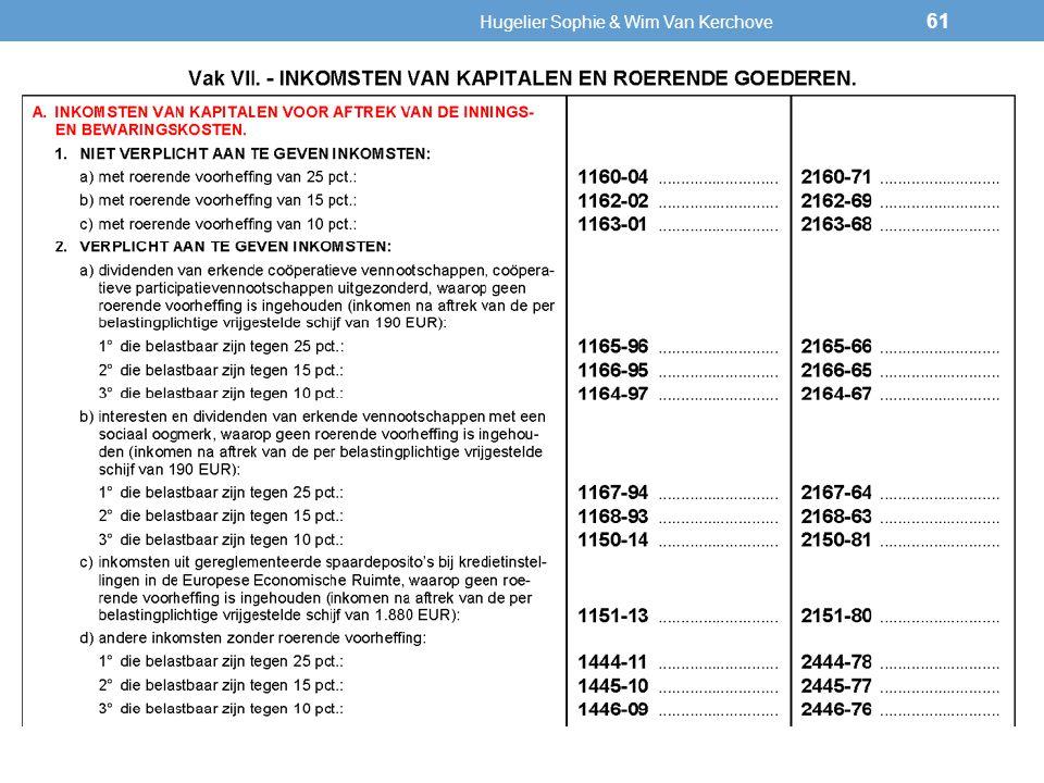 Altijd verplicht aan te geven (+) Hugelier Sophie & Wim Van Kerchove 61