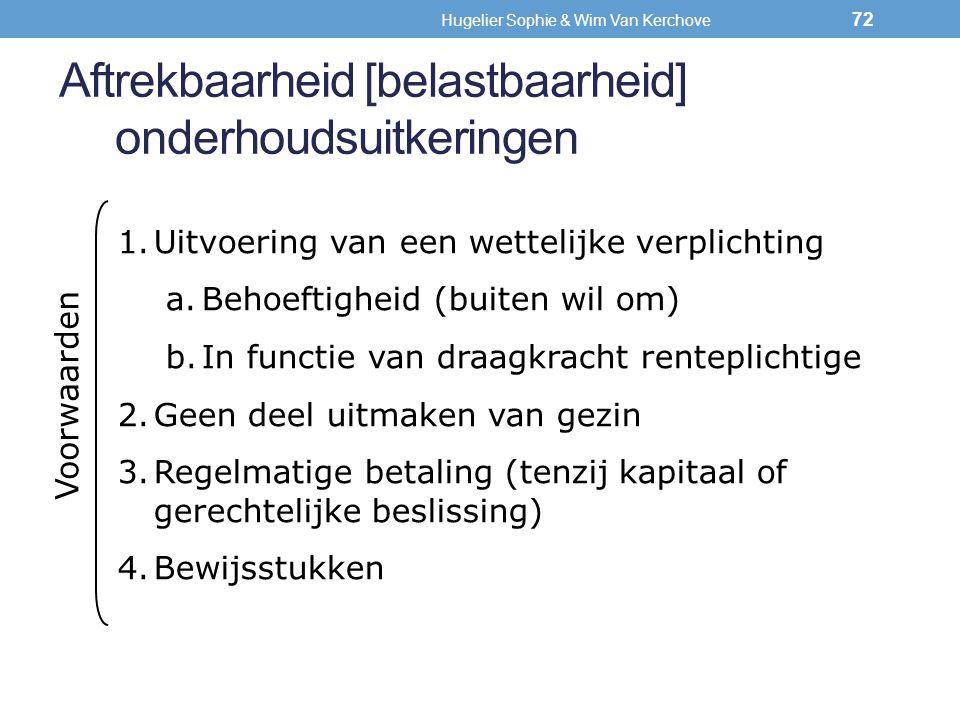 Aftrekbaarheid [belastbaarheid] onderhoudsuitkeringen 1.Uitvoering van een wettelijke verplichting a.Behoeftigheid (buiten wil om) b.In functie van dr