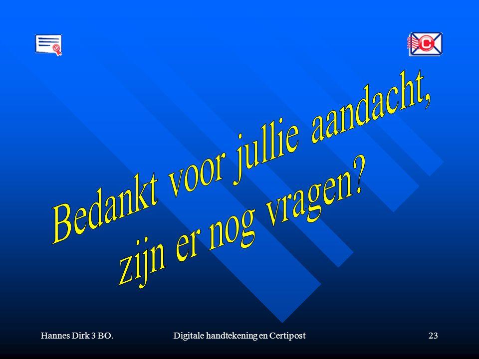 Hannes Dirk 3 BO.Digitale handtekening en Certipost23