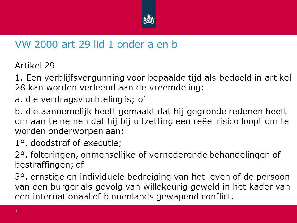 VW 2000 art 29 lid 1 onder a en b Artikel 29 1.