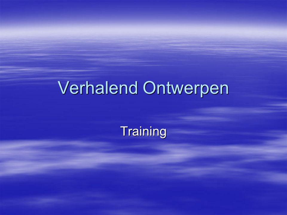 Verhalend Ontwerpen Training