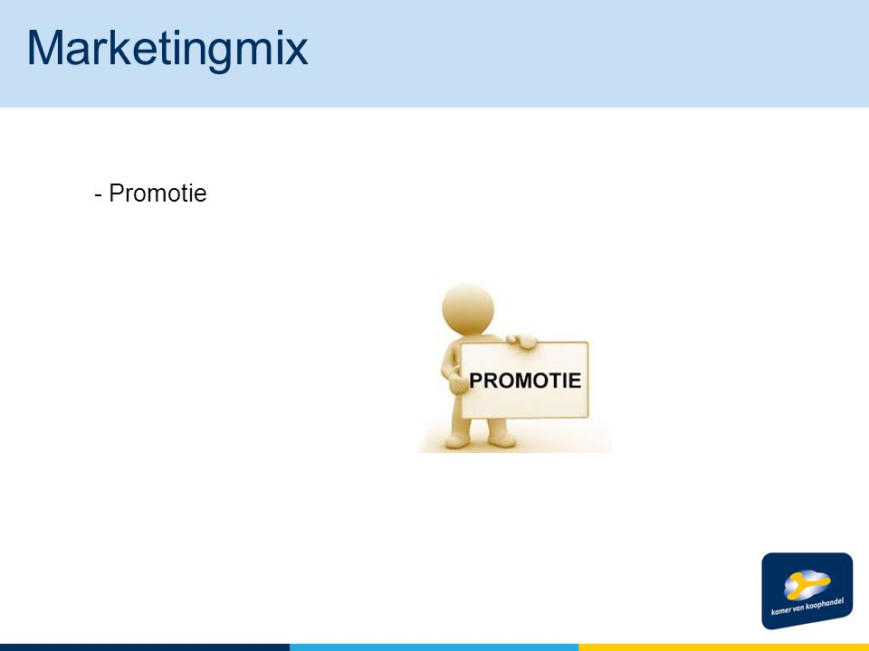 Marketingmix - Promotie