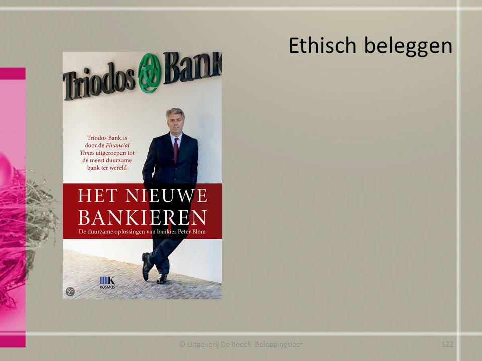 Ethisch beleggen © Uitgeverij De Boeck Beleggingsleer122