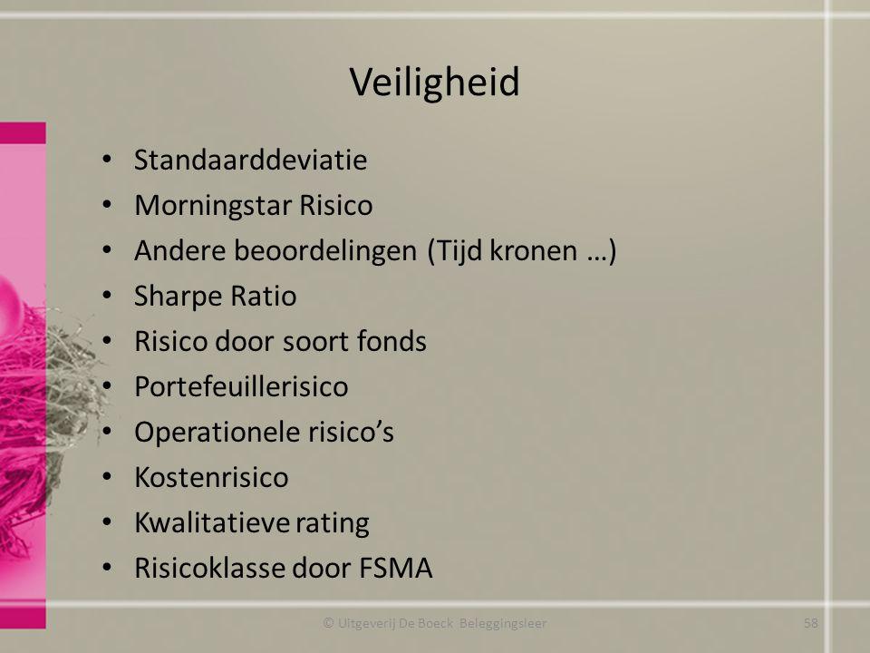 Veiligheid Standaarddeviatie Morningstar Risico Andere beoordelingen (Tijd kronen …) Sharpe Ratio Risico door soort fonds Portefeuillerisico Operation