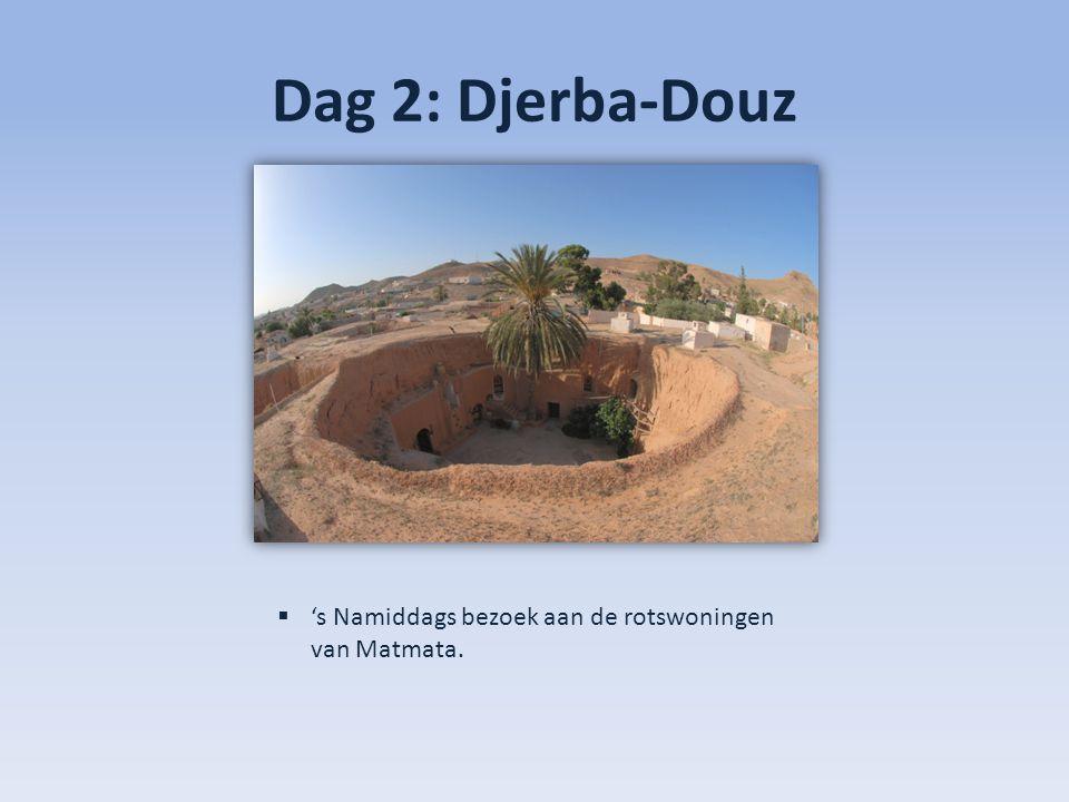 Dag 2: Djerba-Douz  Diner en overnachting in hotel Sahra Douz