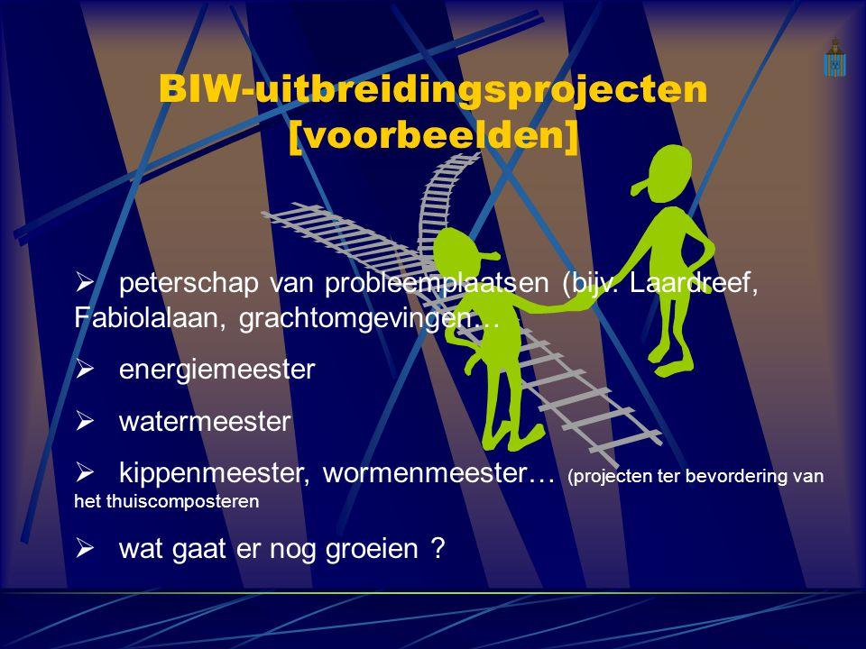 BIW-uitbreidingsprojecten [voorbeelden]  peterschap van probleemplaatsen (bijv.