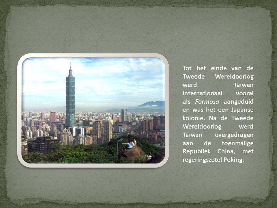 Tot het einde van de Tweede Wereldoorlog werd Taiwan internationaal vooral als Formosa aangeduid en was het een Japanse kolonie.