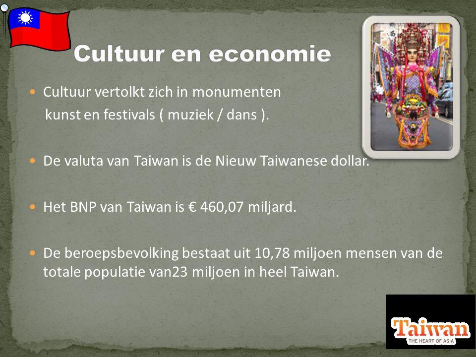 Cultuur vertolkt zich in monumenten kunst en festivals ( muziek / dans ).