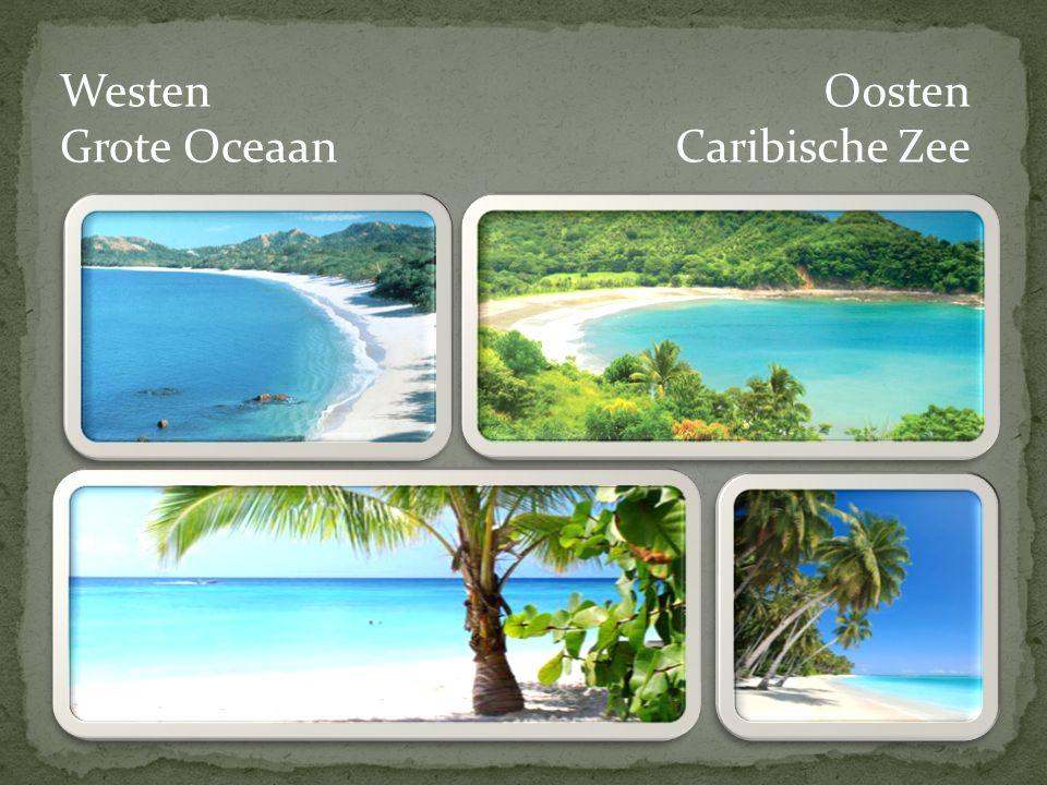 Westen Grote Oceaan Oosten Caribische Zee