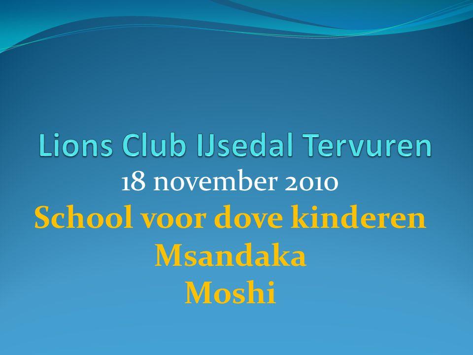 18 november 2010 School voor dove kinderen Msandaka Moshi